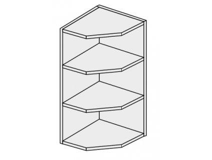 Kuchynská skrinka horná rohová, WEK/30 Torium