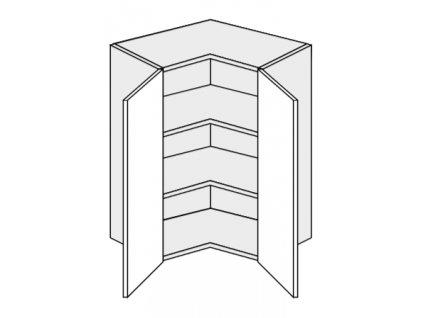 Kuchynská skrinka horná rohová WER/65/65 Torium
