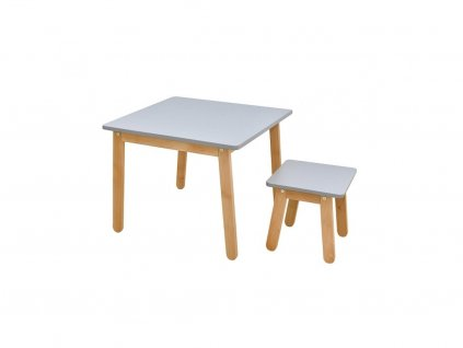 61561 1 moderna detska zostava stol a stolicka woody grey