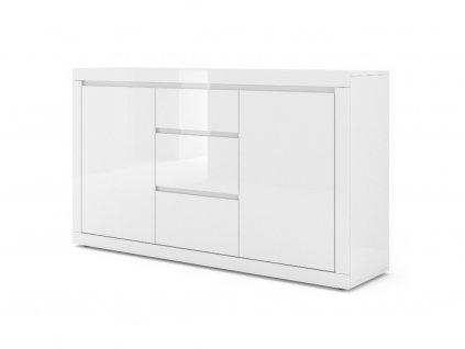 150840 moderna biela leskla komoda como bianco 3 biely lesk (1)