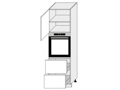 Kuchynská skrinka vysoká, D14/RU/2E 356 Amaro