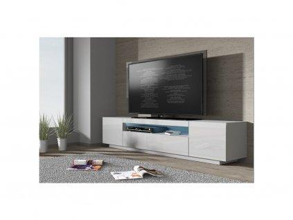 65598 moderny biely tv stolik tv 200 biela biely lesk