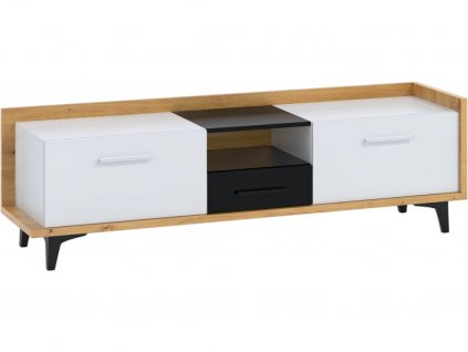 159528 6 prakticky tv stolik box 09 2d1s dub artisan biela cierna