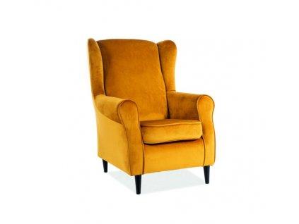 BARON kreslo modré