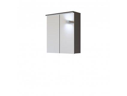 Skrinka závesná zrkadlová 60 GALAXY SIVÁ 840