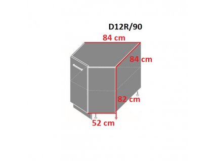 Dolna skrinka rohova D12R 90 1