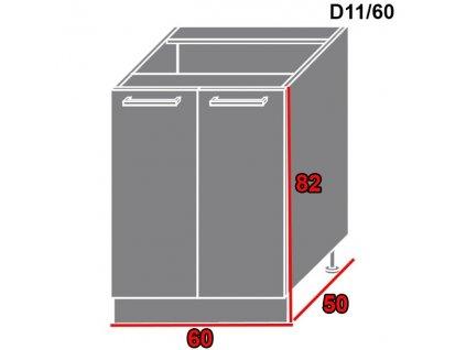 Spodná kuchynská skrinka Gold Lux D11/60
