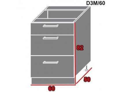 Spodná kuchynská skrinka Gold Lux D3M/60