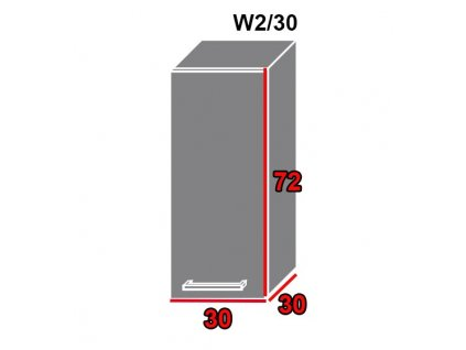 Vrchná kuchynská skrinka Gold Lux W2/30