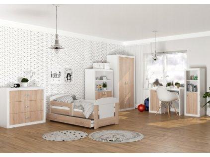 Detská izba FILIP C, dub sonoma