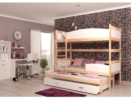 Detská poschodová posteľ TWIST, trojlôžko