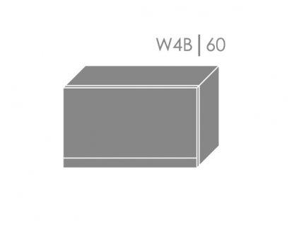 Vrchná kuchynská skrinka Florence W4B/60 (FAREBNÉ PREVEDENIE KORPUSU Grey, FAREBNÉ PREVEDENIE DVIEROK ICA ICA 0162, Povrchová úprava dvierok LESK)
