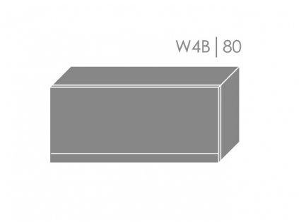 Vrchná kuchynská skrinka Florence W4B/80 (FAREBNÉ PREVEDENIE KORPUSU Lava, FAREBNÉ PREVEDENIE DVIEROK ICA RAL 9005, Povrchová úprava dvierok LESK)