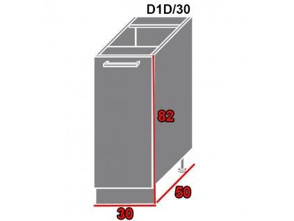 Spodná kuchynská skrinka Brerra D1D/30