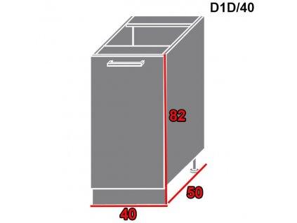 Spodná kuchynská skrinka Brerra D1D/40