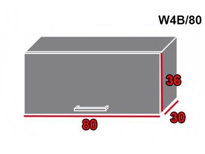 Vrchná kuchynská skrinka Brerra W4B/80