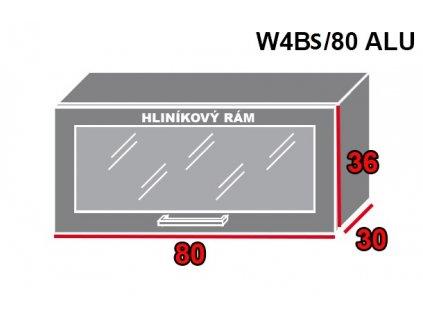 Vrchná kuchynská skrinka Brerra W4BS/80 ALU