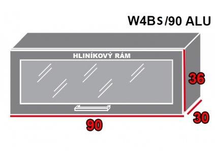 Vrchná kuchynská skrinka Brerra W4BS/90 ALU