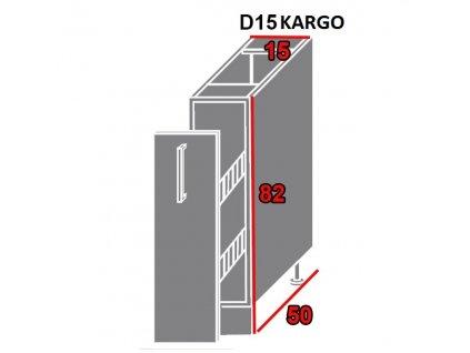 Spodná kuchynská skrinka Pescara D15/kargo