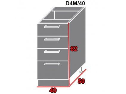 Spodná kuchynská skrinka Pescara D4M/40