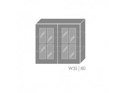 Vrchná kuchynská skrinka Pescara W3S/80
