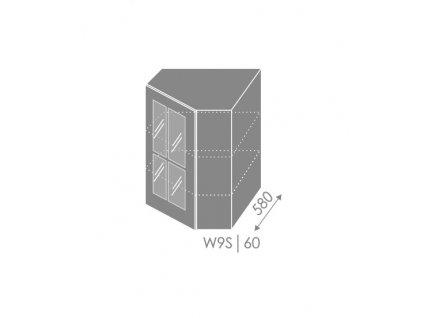 Vrchná kuchynská skrinka rohová Pescara W9S/60