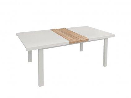 Jedálenský stôl Alher, biely