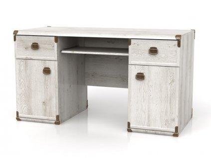 Kancelársky stôl Indiana JBIU 2D2S BRW