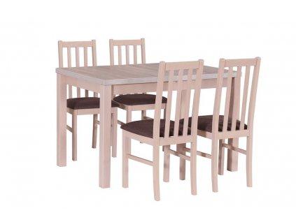 Jedálenský set - stôl MAX V / stoličky BOSS X (1+4)