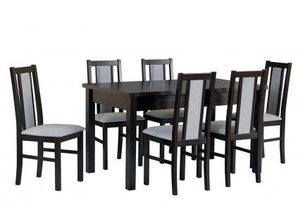 Jedálenský set - stôl MODENA I / stoličky BOSS XIV (1+6)