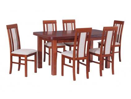 Jedálenský set - stôl WENUS V / stoličky NILO II (1+6)