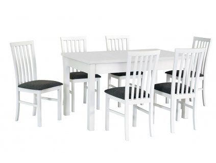 Jedálenský set - stôl MODENA I / stoličky MILANO I (1+6)