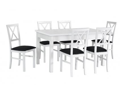 Jedálenský set - stôl MODENA I / stoličky MILANO IV (1+6)