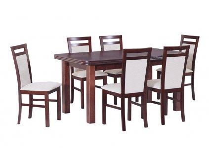 Jedálenský set - stôl WENUS V / stoličky MILANO V