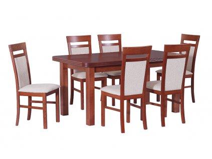 Jedálenský set - stôl WENUS V / stoličky MILANO VI