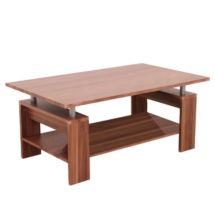 Tempo Kondela Konferenčný stolík, svetlý orech/kov strieborná, ROKO