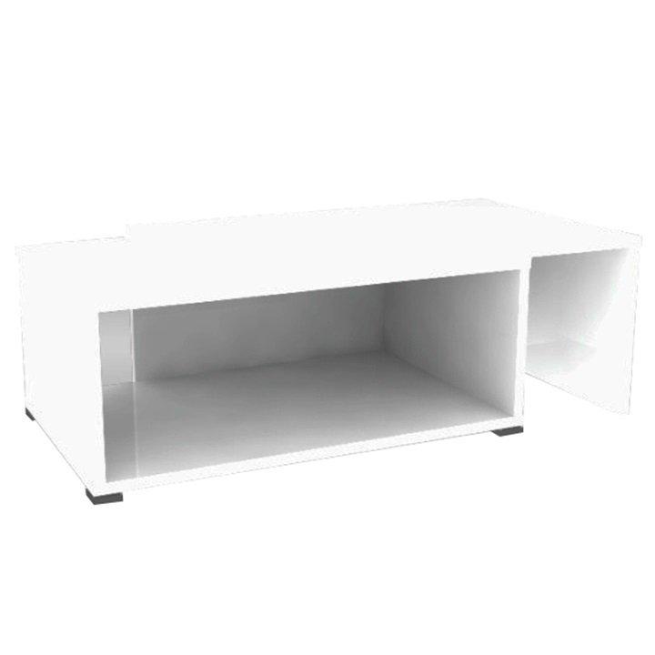 Tempo Kondela Konferenčný rozkladací stolík, biela, DRON