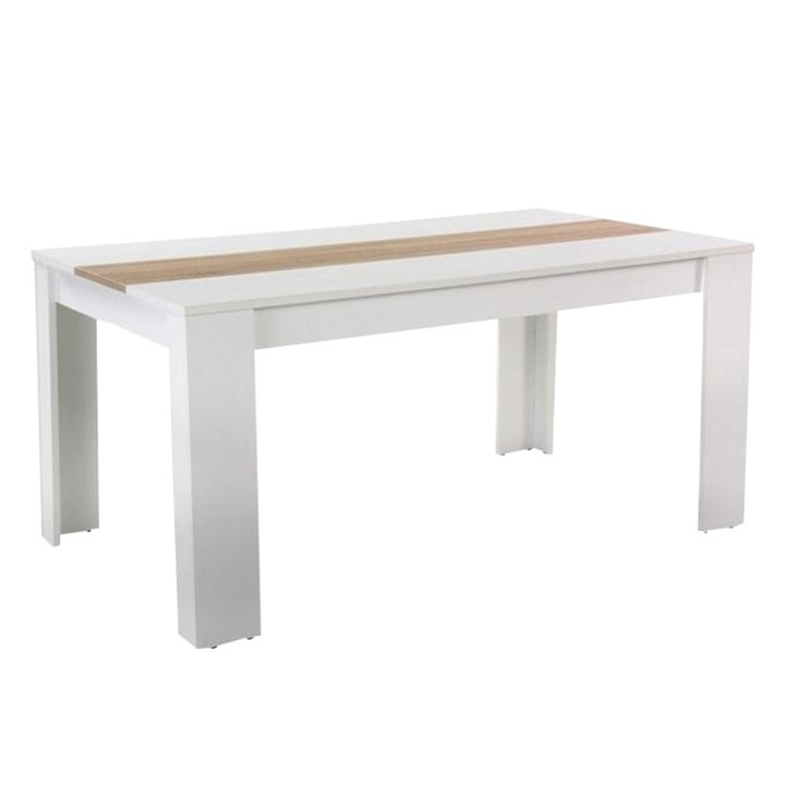 Tempo Kondela Jedálenský stôl, biela/dub sonoma, 140x80 cm, RADIM