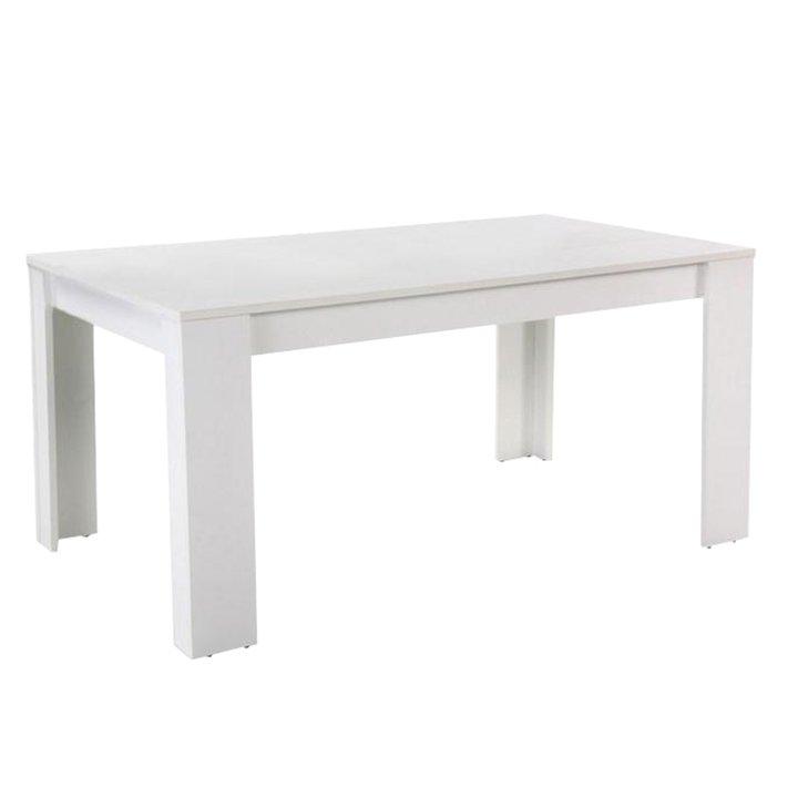 Tempo Kondela Jedálenský stôl, biely, 140x80 cm, TOMY