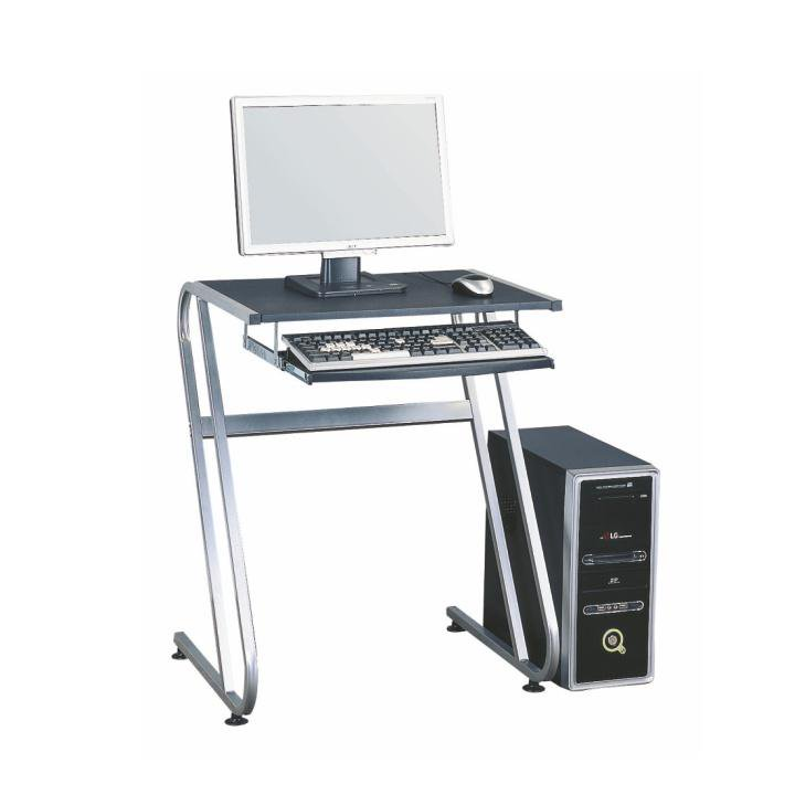 Tempo Kondela PC stôl, čierna+strieborná, JOFRY