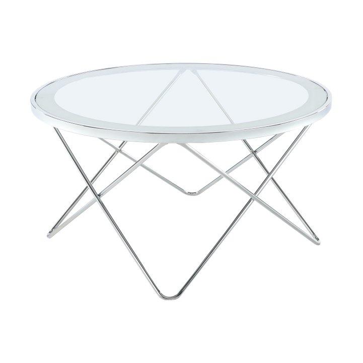 Tempo Kondela Konferenčný stolík, chróm/číre sklo, LEONEL