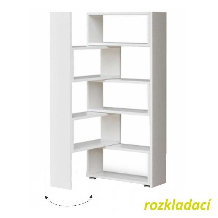 Tempo Kondela Regál, biely, DTD laminovaná, KLOE II