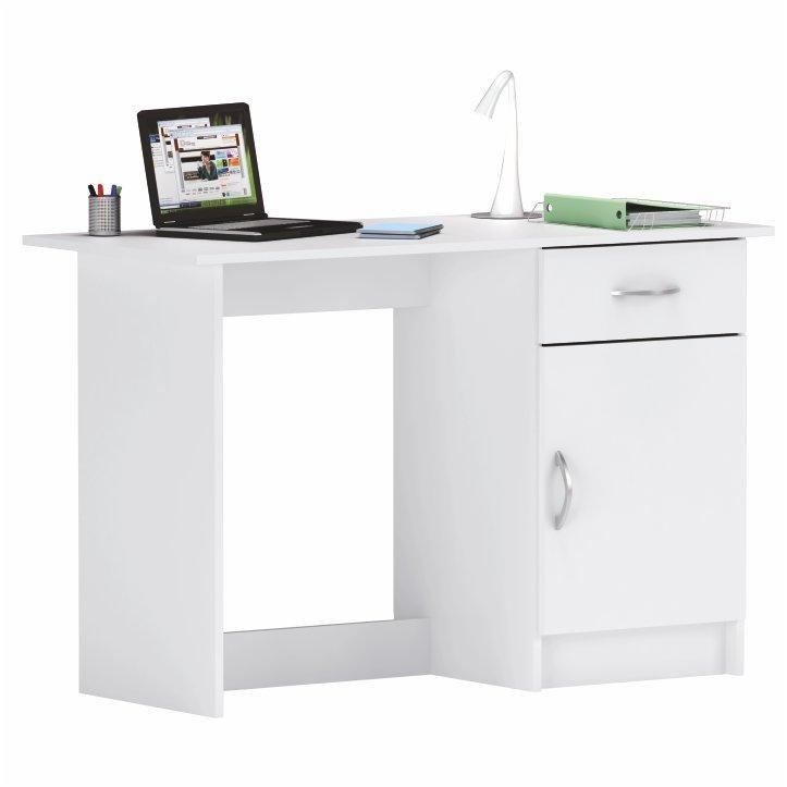 Tempo Kondela PC stôl, biela, SIRISS