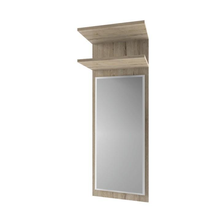 Tempo Kondela Panel so zrkadlom 45, dub san remo, ORESTES
