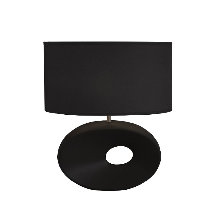Tempo Kondela Keramická stolná lampa, čierna, QENNY TYP 10 AT09115