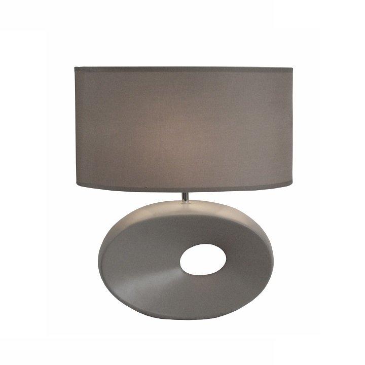 Tempo Kondela Keramická stolná lampa, sivá, QENNY TYP 11 AT09115