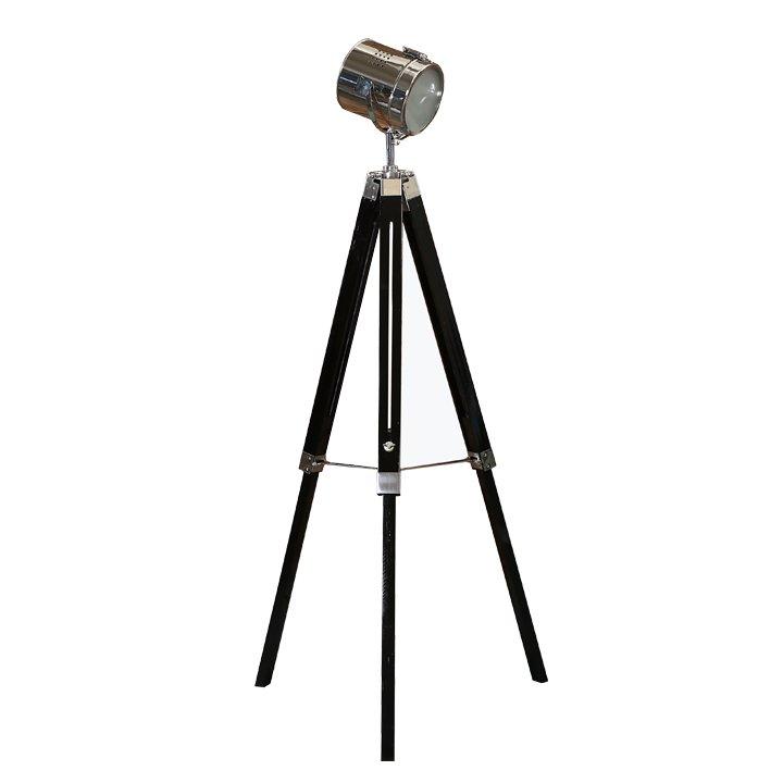 Tempo Kondela Stojacia lampa, čierne drevo/kov, CINDA Typ 26 YF819-B