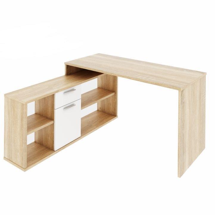 Tempo Kondela PC stôl, dub sonoma/biela, NOE NEW