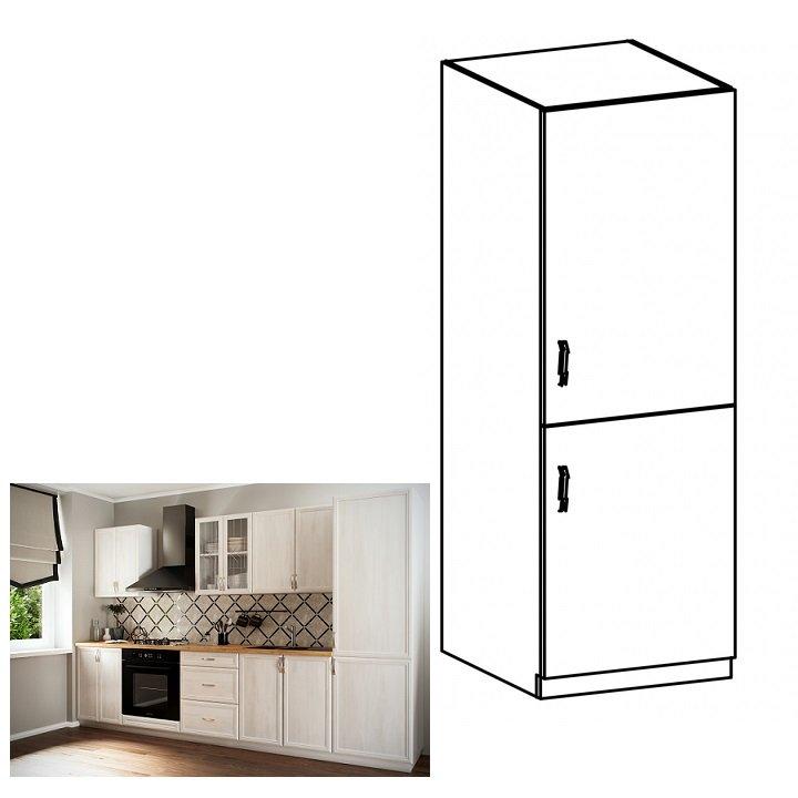 Tempo Kondela Kuchynská skrinka na vstavanú chladničku D60ZL, pravá, biela/sosna Andersen, SICILIA