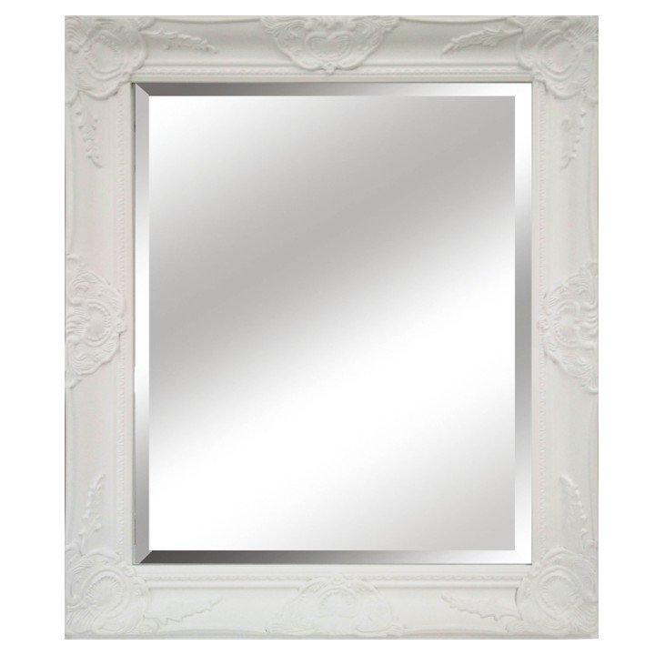 Tempo Kondela Zrkadlo, biely drevený rám, MALKIA TYP 13